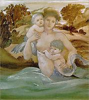 Mermaid With Her Offspring, burnejones