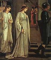 The Princess Sabra Led to the Dragon Painting, 1866, burnejones