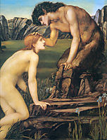 Psyche and Pan, 1874, burnejones
