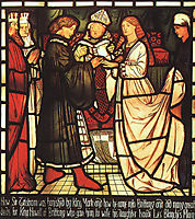Wedding of Sir Tristram, 1863, burnejones