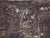 The Wise and Foolish Virgins, 1859, burnejones