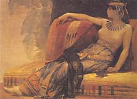 Cleopatra, preparatory study for -Cleopatra Testing Poisons on the Condemned Prisoners- , cabanel