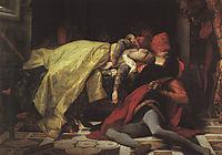 Death of Francesca da Rimini and Paolo Malatesta, 1870, cabanel