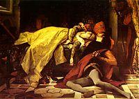 The Death of Francesca de Rimini and Paolo Malatesta , 1870, cabanel