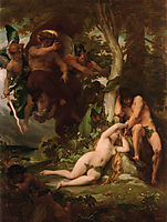 The Expulsion of Adam and Eve from the Garden of Paradise, cabanel