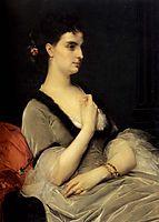 Portrait of Countess E.A. Vorontova-Dashkova, 1873, cabanel