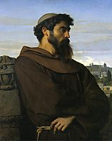 A thinker, a young Roman monk, 1848, cabanel
