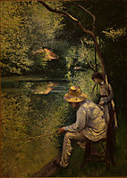 Angling, 1878, caillebotte