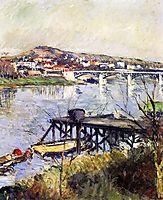 The Argenteuil Bridge, 1893, caillebotte
