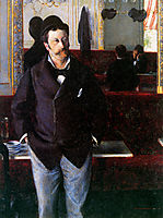 At the Cafe, Rouen, 1880, caillebotte