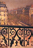 A Balcony in Paris, 1881, caillebotte