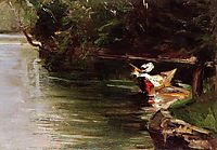 Banks of the Yerres, c.1878, caillebotte