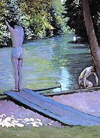 Bather Preparing to Dive, c.1878, caillebotte