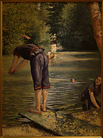 Bathers on the Banks of the Yerres, 1878, caillebotte