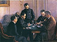 The Bezique Game, 1880, caillebotte