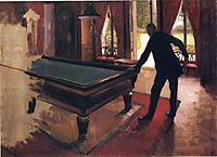 Billiards, c.1876, caillebotte