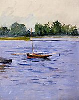 Boat at Anchor on the Seine, c.1891, caillebotte