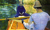 Boaters on the Yerres, 1877, caillebotte