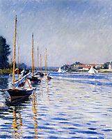 Boats on the Seine, caillebotte