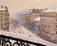 Boulevard Haussmann in the Snow, c.1881, caillebotte