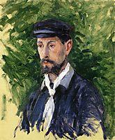 Bust Portrait of Eugene Lamy, 1888, caillebotte