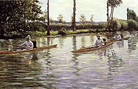 The canoes, 1877, caillebotte