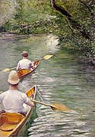 The canoes, 1878, caillebotte