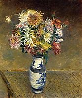Chrysanthemums in a Vase, 1893, caillebotte