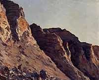 Cliff at Villers sur Me, c.1880, caillebotte