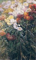 Clump of Chrysanthemums, Garden at Petit Gennevilliers, 1890, caillebotte