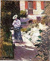 the Dahlias, Petit Gennevilliers Garden, 1893, caillebotte