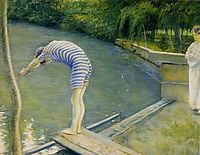The diver or The Beach, 1877, caillebotte