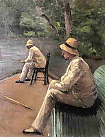 Fishermen on the Banks of the Yerres, c.1876, caillebotte