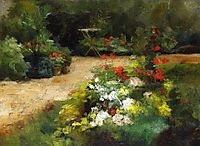 The Garden, c.1878, caillebotte
