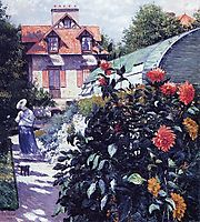The Garden at Petit Gennevilliers, 1893, caillebotte