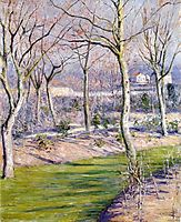 The garden of the Petit Gennevilliers in Winter, 1894, caillebotte