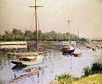 The Harbour of Argentueil, c.1882, caillebotte