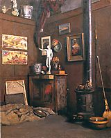 Interior of a Studio, c.1874, caillebotte