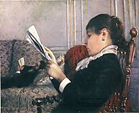 Interior, Woman Reading, 1880, caillebotte