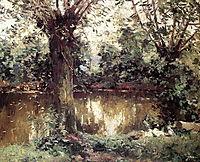 Landscape, Banks of the Yerres, c.1875, caillebotte