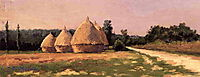 Landscape with Haystacks, c.1874, caillebotte