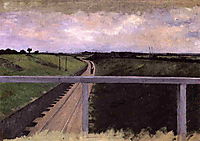 Landscape with Railway Tracks, c.1872, caillebotte