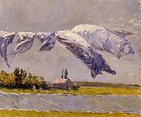 Laundry Drying, Petit Gennevilliers, 1892, caillebotte