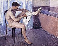Man drying his leg, 1884, caillebotte