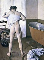 Man at His Bath, 1884, caillebotte