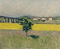 Meadow Bridge at Argenteuil, 1886, caillebotte