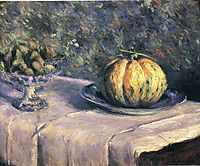 Melon and Fruit Bowl with Figs, 1882, caillebotte