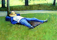 The Nap, 1877, caillebotte
