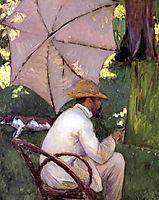The Painter under His Parasol, c.1878, caillebotte