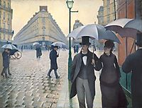 Paris street, rainy weather, 1876, caillebotte